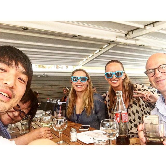 Lunch with Pegasus crew!! #aoicannes2016