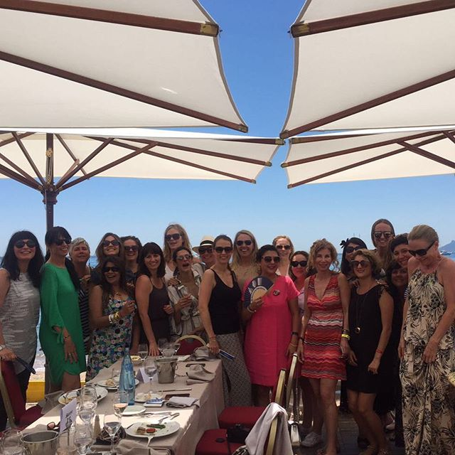 8th Women's Lunch @ Carlton Beach Cannes ?Girl power from around the world come together! Organized by the amazing beautiful lady in pink @analaurabcn ??#tbt #cannes #carltonbeach #beautifulladies