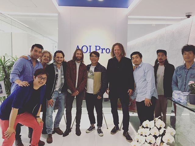 Massive music visited our Tokyo office. Congrats on opening the new office!  #massivemusic #aoipro #tokyo