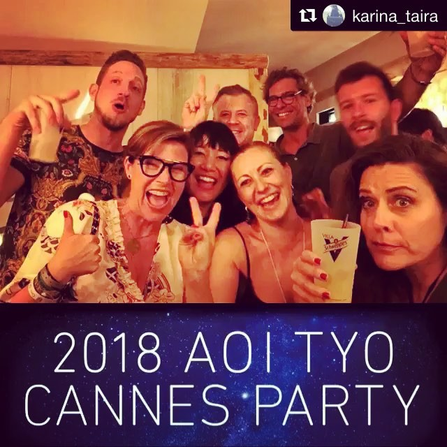 Love this️ Thank YOU for coming!!! @karina_taira ・・・ Thank you @aoiglobal for a fun fabulous party!