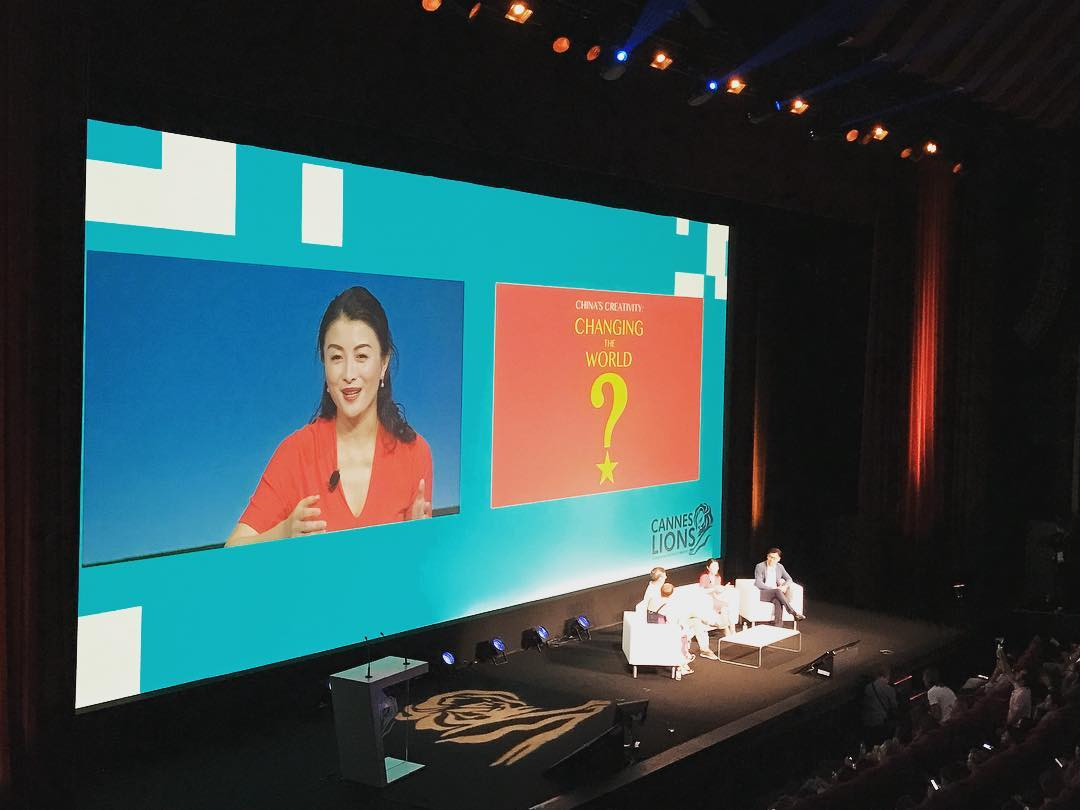 Talking about China's creativity with Joy Tan, the president of global media communication from Huawei