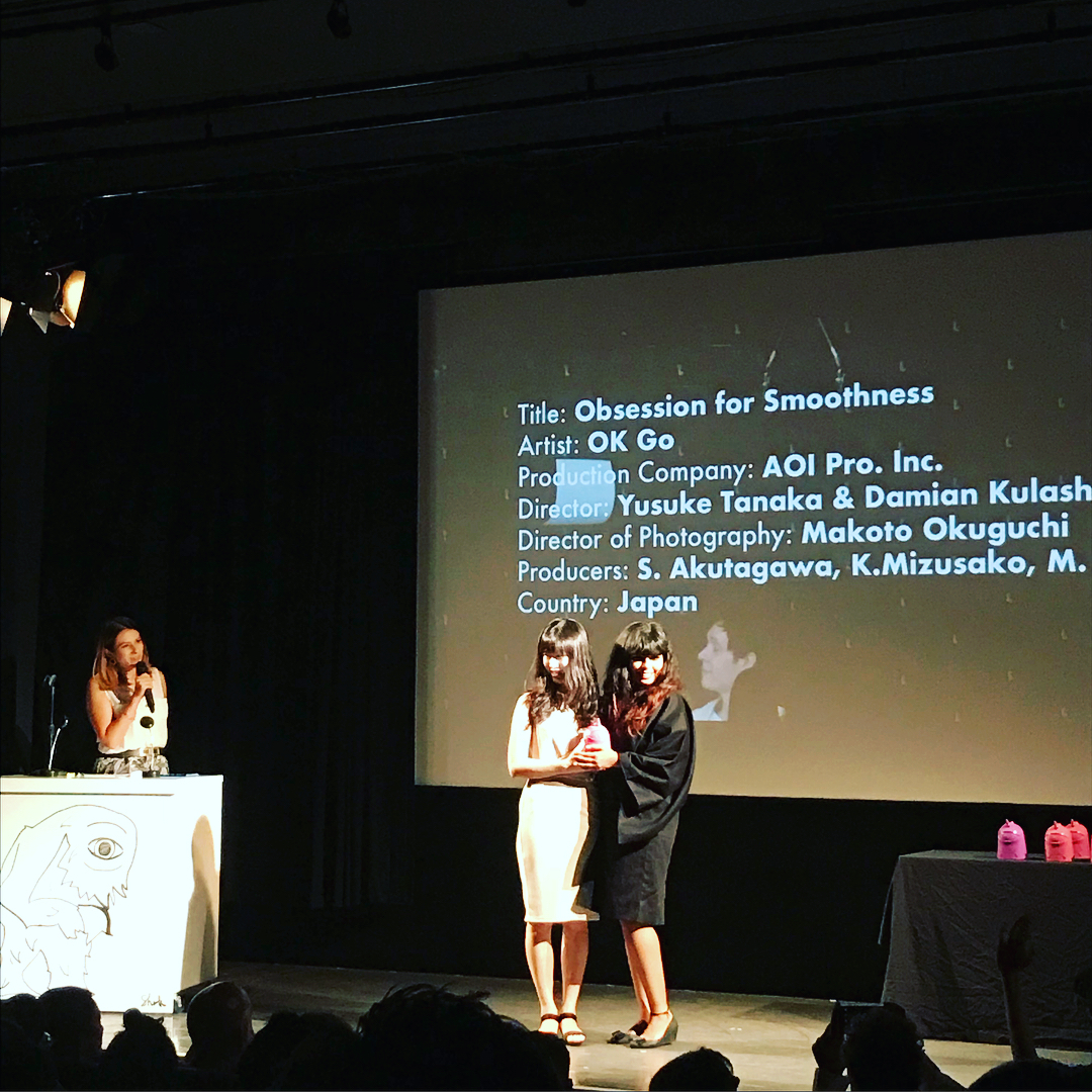 """AOI won 2 awards at Ciclope Asia!!! Best of Music Video for OK Go """"Obsession for Smoothness"""" and Best of Animation for Nissin Foods """"Samurai Noodles - The Originator""""!!!"""