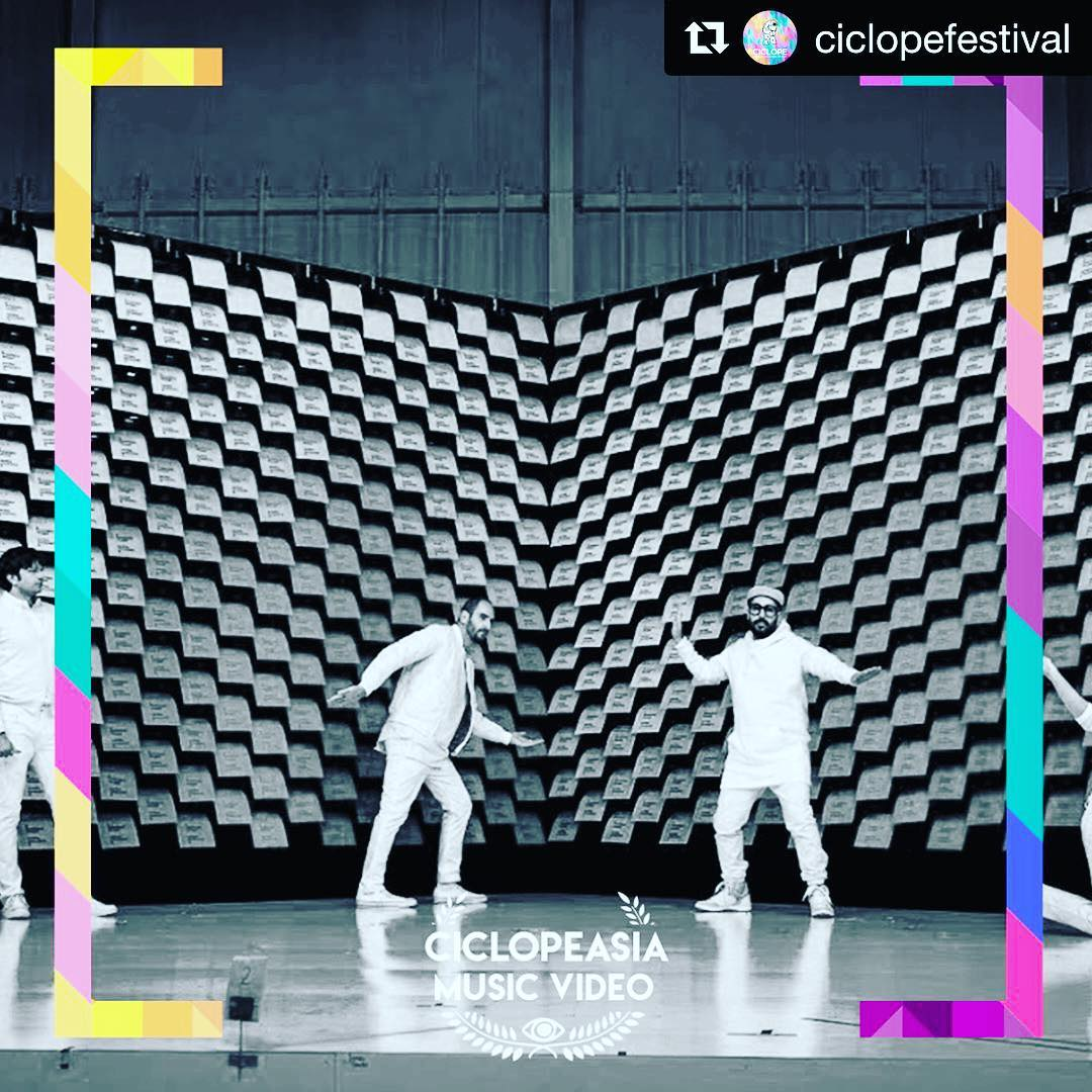 """Yey!! @ciclopefestival ・・・ Congratulations to Ok Go that won the """"Music Video"""" Award with their """"Obsession"""" video! Video Production Company: AOI Pro. Inc.  Director: Yusuke Tanaka + Damian Kulash"""
