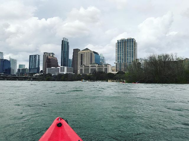 Enjoying kayaking in Austin in between the events