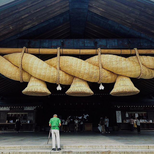 "_ Here's this week's update of from AOI Global at Izumo Taisha, Izumo and Shimane!  These huge sacred ropes are called ""Shimenawa"". It is considered to be a barrier against evil spirits. Shimenawa is used to separate holy places from other places.  #aoiglobal  #filmproduction  #productioncompany  #filmmakersworld  #productionservices  #shootinglocation  #filmwork  #filmmakinglife  #onlocationshoot  #weeklyinspiration"