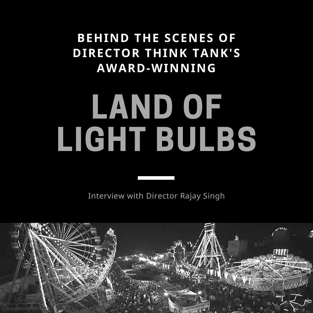 """New Interview  """"LAND OF LIGHT BULBS"""" - BEHIND THE SCENES Captivating, entertaining, unforgettable and thought-provoking. Qualities which earned Directors Think Tank Grand Prix and Gold in the Entertainment Category at Spikes Asia in early March this year for their stunning 'Land of Light Bulbs'; a trilogy inspired by the sharing of energy and the spirit of ingenuity. All of us at AOI Pro., were delighted when SE Asia's oft-acclaimed Director Rajay Singh gave us this behind-the-scenes lowdown on how the masterpiece emerged.  Click the link in our bio to read the full article"""