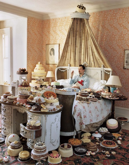 Self Portrait with Cakes. 2008