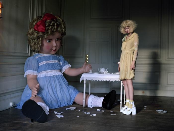 Lindsay Wixson & Giant Doll. 2011. Italian Vogue